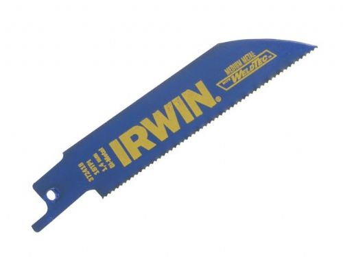 5 x Irwin 418R 100mm Sabre Reciprocating Saw Blade Metal Cutting Makita DeWalt